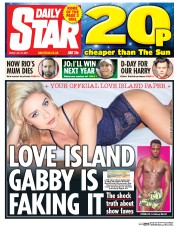 Daily Star (UK) Newspaper Front Page for 14 July 2017