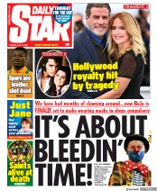 Daily Star front page for 14 July 2020
