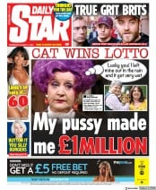Daily Star () Newspaper Front Page for 14 August 2019