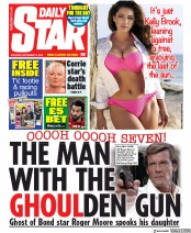 Daily Star (UK) Newspaper Front Page for 14 September 2019