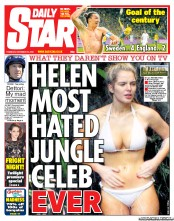 Daily Star () Newspaper Front Page for 15 November 2012