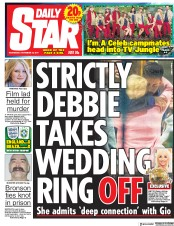 Daily Star () Newspaper Front Page for 15 November 2017