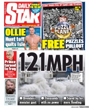 Daily Star (UK) Newspaper Front Page for 15 January 2020