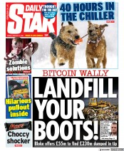Daily Star front page for 15 January 2021