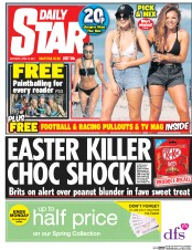 Daily Star (UK) Newspaper Front Page for 15 April 2017
