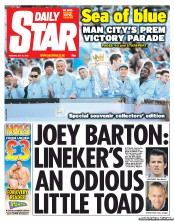 Daily Star () Newspaper Front Page for 15 May 2012
