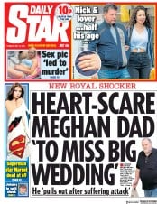 Daily Star (UK) Newspaper Front Page for 15 May 2018