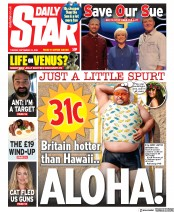 Daily Star front page for 15 September 2020