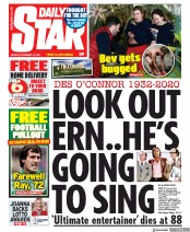 Daily Star front page for 16 November 2020