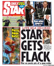 Daily Star () Newspaper Front Page for 16 December 2019