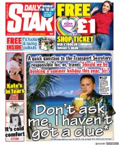 Daily Star front page for 16 January 2021