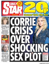 Daily Star (UK) Newspaper Front Page for 16 February 2017