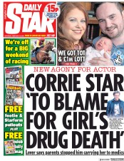 Daily Star (UK) Newspaper Front Page for 16 February 2019