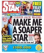 Daily Star front page for 16 May 2020