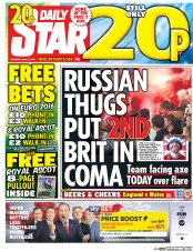 Daily Star () Newspaper Front Page for 16 June 2016