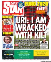 Daily Star () Newspaper Front Page for 16 June 2021