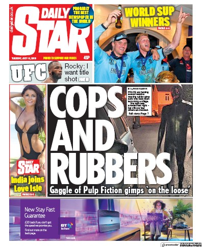 Daily Star Newspaper Front Page (UK) for 16 July 2019