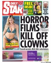 Daily Star (UK) Newspaper Front Page for 16 September 2019