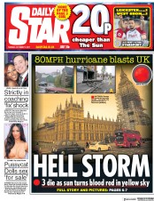 Daily Star (UK) Newspaper Front Page for 17 October 2017