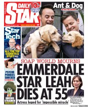 Daily Star (UK) Newspaper Front Page for 17 October 2019