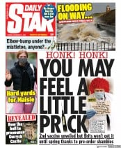 Daily Star front page for 17 November 2020