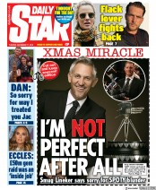 Daily Star (UK) Newspaper Front Page for 17 December 2019