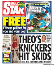 Daily Star (UK) Newspaper Front Page for 17 January 2020
