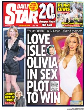 Daily Star (UK) Newspaper Front Page for 17 July 2017
