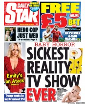 Daily Star (UK) Newspaper Front Page for 17 August 2019