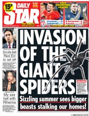 Daily Star (UK) Newspaper Front Page for 17 September 2014