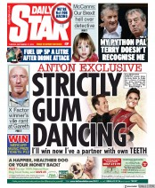 Daily Star (UK) Newspaper Front Page for 17 September 2019