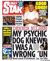 Daily Star front page for 17 September 2020