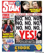 Daily Star front page for 18 November 2020