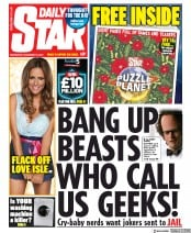 Daily Star () Newspaper Front Page for 18 December 2019