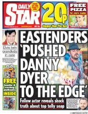 Daily Star (UK) Newspaper Front Page for 18 February 2017