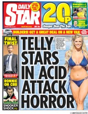 Daily Star (UK) Newspaper Front Page for 18 April 2017