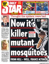 Daily Star (UK) Newspaper Front Page for 18 September 2014