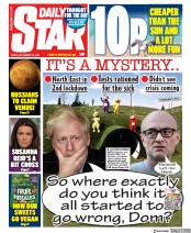 Daily Star front page for 18 September 2020