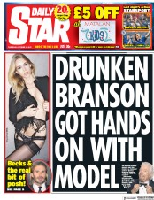 Daily Star (UK) Newspaper Front Page for 19 October 2017