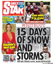 Daily Star front page for 19 October 2020