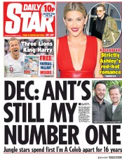 Daily Star (UK) Newspaper Front Page for 19 November 2018