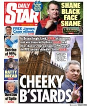 Daily Star front page for 19 November 2020