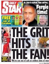 Daily Star (UK) Newspaper Front Page for 19 December 2018