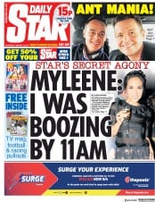 Daily Star (UK) Newspaper Front Page for 19 January 2019