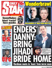 Daily Star () Newspaper Front Page for 19 February 2019