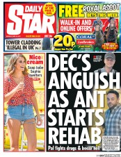 Daily Star (UK) Newspaper Front Page for 19 June 2017