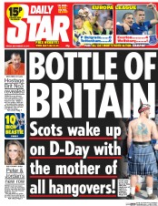 Daily Star (UK) Newspaper Front Page for 19 September 2014
