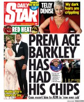 Daily Star (UK) Newspaper Front Page for 1 October 2019