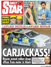 Daily Star () Newspaper Front Page for 1 November 2018