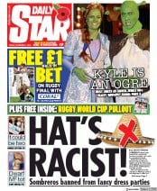 Daily Star (UK) Newspaper Front Page for 1 November 2019